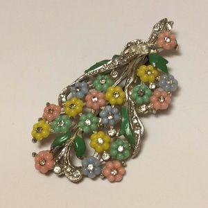 Vintage Flower Bouquet Pin